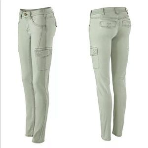 CAbi Women's Celadon Green Stretch Cargo Skinny